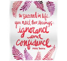 Ignorance & Confidence #3 Poster