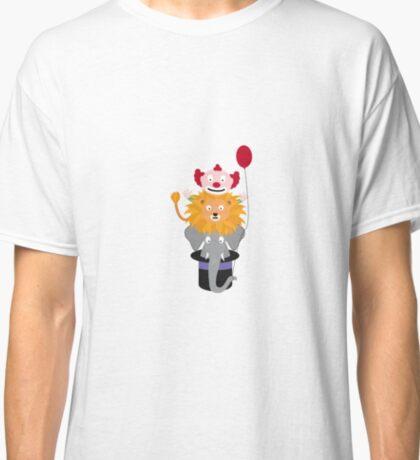 Clown Lion and Elephant Classic T-Shirt