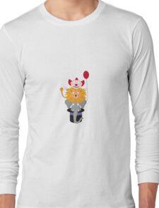 Clown Lion and Elephant Long Sleeve T-Shirt
