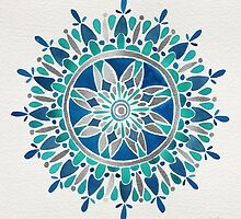 Mandala – Silver & Turquoise by Cat Coquillette