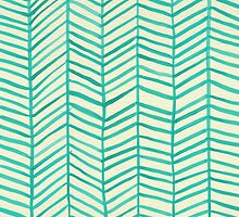 Mint Herringbone by Cat Coquillette