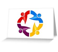 circle-people-workteam-logo Greeting Card