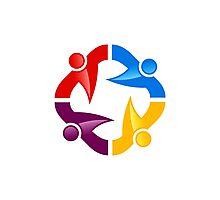 circle-people-workteam-logo Photographic Print
