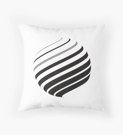 Rotating Sphere Throw Pillow
