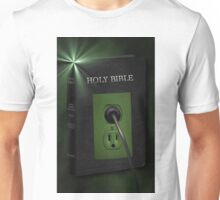 R U PLUGGED IN TO GODS WORD??-PICTURE AND OR CARD Unisex T-Shirt