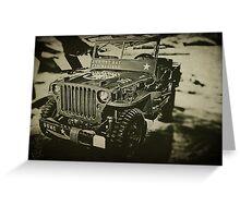 Jeep 3 Greeting Card