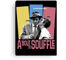 A Bout de Souffle (Breathless) Movie Poster Canvas Print
