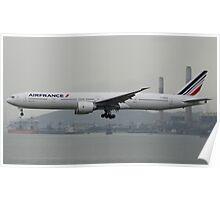 Air France 777-300ER Landing in HKG Poster