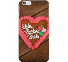 Lebkuchenherzen gingerbread Heart cookie iPhone Case/Skin