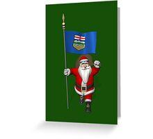 Santa Claus Visiting Alberta Greeting Card