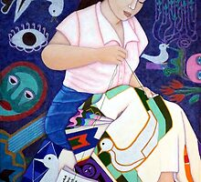 Embroidering life by Madalena Lobao-Tello