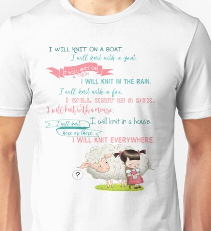 I Will Knit  Unisex T-Shirt