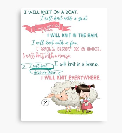 I Will Knit  Canvas Print