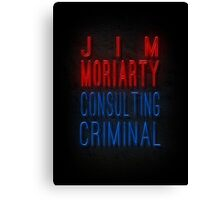 Jim Moriarty ; BBC Sherlock Canvas Print