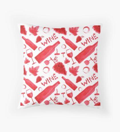 Wine pattern Throw Pillow