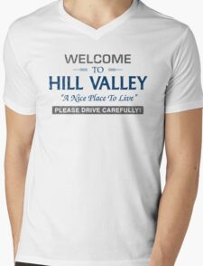 Welcome To Hill Valley Mens V-Neck T-Shirt