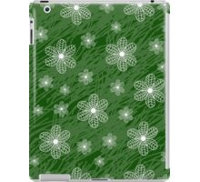 seamless pattern with flowers on a green background grunge iPad Case/Skin