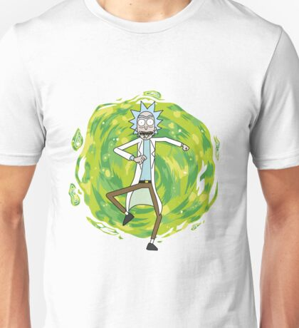 Rick through the portal Unisex T-Shirt