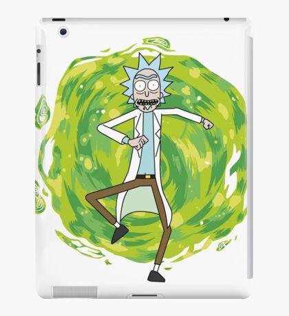 Rick through the portal iPad Case/Skin
