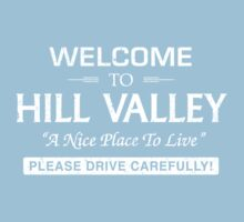 Welcome To Hill Valley (White) Baby Tee