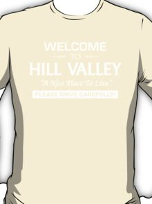 Welcome To Hill Valley (White) T-Shirt