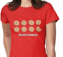 Delete Cookies (Red) Womens Fitted T-Shirt