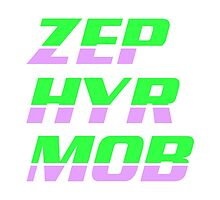 Zephyr Mob Sylables - Lime and Lilac by zephyrmob