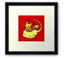 Pikachu is Flying Framed Print