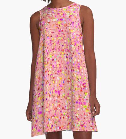 Antique Texture Peach A-Line Dress