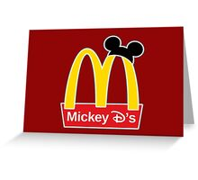 Mickey D's Greeting Card