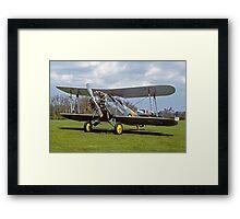 Fairey Flycatcher replica G-BEYB Framed Print
