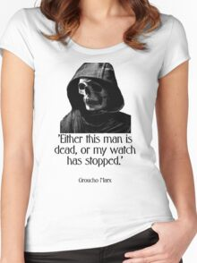 Either this man is dead... Groucho Marx Women's Fitted Scoop T-Shirt