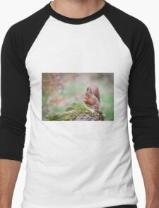 Red Squirrel Men's Baseball ¾ T-Shirt