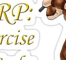 LARP: Exercise for Geeks Sticker