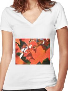 fall Women's Fitted V-Neck T-Shirt