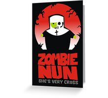 zombie nun Greeting Card