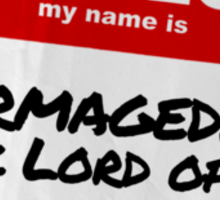 Hello My Name Is Stormageddon - Doctor Who Sticker