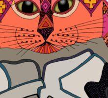 mouse cat pug mint Sticker