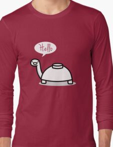 Mine turtle stops by to say hello Long Sleeve T-Shirt