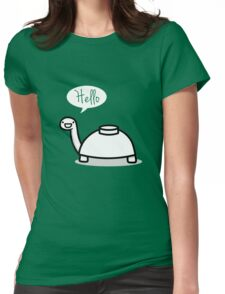 Mine turtle stops by to say hello Womens Fitted T-Shirt