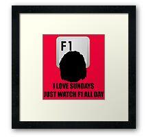 F1 Sunday Framed Print