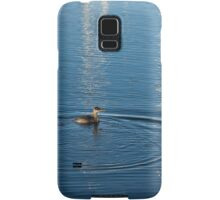 Ripples and Circles – Red-Necked Grebe Samsung Galaxy Case/Skin