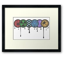 Avengers Colour Smash Framed Print