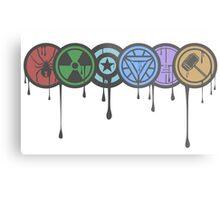 Avengers Colour Smash Metal Print