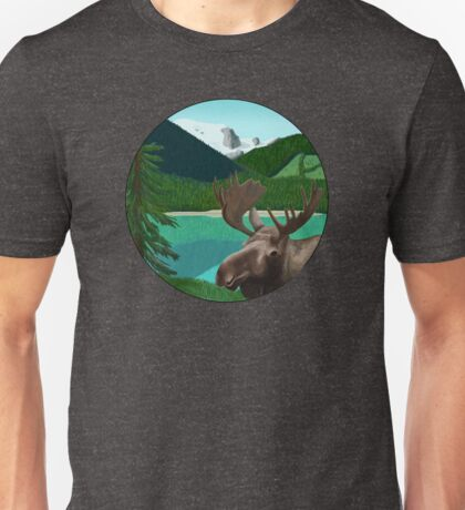 Moose in the wild Unisex T-Shirt
