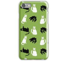 Cats & Greenery inspired by Pantone iPhone Case/Skin