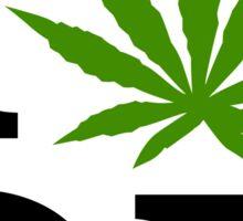 I Love Marijuana Oregon Cannabis Weed Sticker