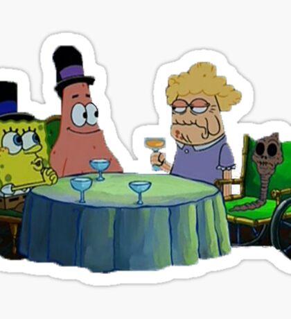 Spongebob has dinner with Chocolate Lady Sticker