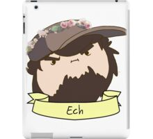JonTron: The Ech Flower Crown iPad Case/Skin