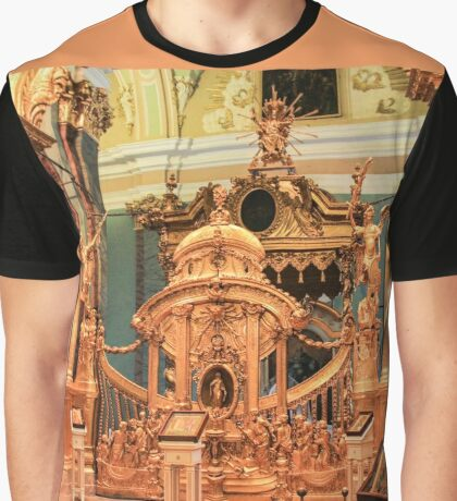 Gates and golden iconostasis of Peter and Paul Cathedral. Graphic T-Shirt